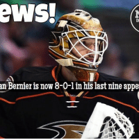 Talk about getting hot at the right time, and filling in nicely for the injured John Gibson Bernier NHLDiscussion Ducks: eWSH  an Bernier is now 8-0-lin his last nine appe Talk about getting hot at the right time, and filling in nicely for the injured John Gibson Bernier NHLDiscussion Ducks