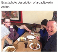 @pubity was voted funniest account on Instagram 😂: Exact photo description of a dad joke in  action @pubity was voted funniest account on Instagram 😂