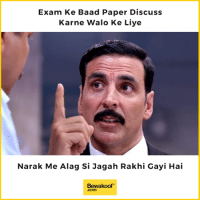 "Do you agree? :P  Revamp your wardrobe - http://bit.ly/bewakoof-collection: Exam Ke Baad Paper Discuss  Karne Walo Ke Liye  Narak Me Alag Si Jagah Rakhi Gayi Hai  Bewakoof""  .com Do you agree? :P  Revamp your wardrobe - http://bit.ly/bewakoof-collection"