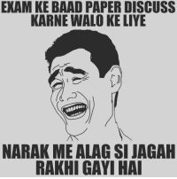Tag Your Friends 😂 - follow @frndship.goals for more posts ;): EXAM KE BAAD PAPERDISCUSS  KARNE WALO KE LIYE  NARAK ME ALAG SI JAGAH  RAKHI GAYI HAI Tag Your Friends 😂 - follow @frndship.goals for more posts ;)