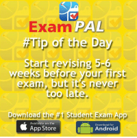 Exam PAL  the Day  Start revising 5-6  weeks before your first  exam, but it's neve  too late  Download the #1  Student Exam Ap  Available on the  Download for  App Store  Android ‪Exam Pal Easter Exam Tips.‬ ‪Check out & download the 1 Exams App. https:-itunes.apple.com-gb-app-exam-pal-id569573636?mt=8 ‬