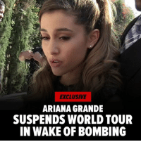 "Ariana Grande, Belgium, and England: EXCLUSIVE  ARIANA GRANDE  SUSPENDS WORLD TOUR  IN WAKE OF BOMBING Ariana Grande has indefinitely suspended her world tour in the wake of the terrorist bombing in England ... TMZ has learned. Sources connected to Ariana tell TMZ, she will not perform Thursday in London and has decided for now to put the entire European tour on hold. She was scheduled to perform in England, Belgium, Poland, Germany and Switzerland. Ariana just tweeted, ""broken. from the bottom of my heart, i am so sorry. i don't have words."" Read more at TMZ.com"