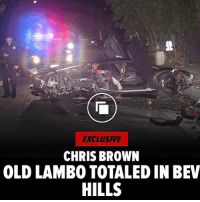 ChrisBrown's Lamborghini Aventador is chilling on a scrap heap after a mysterious crash completely destroyed the exotic sports car ... TMZ has learned. The whip - which retails for $400k-$500k - wrecked in BeverlyHills early Tuesday morning, but police have no idea who was behind the wheel because it was abandoned when they arrived on scene. We're told the Lambo is still registered to Chris, and even though he lets friends drive it ... he had no knowledge it was being driven the night of the crash. Although it has a matte black wrap now - you can still see the car's original orange paint underneath. 😳👀 @tmz_tv WSHH: EXCLUSIVE  CHRIS BROWN  OLD LAMBO TOTALED IN BEV  HILLS ChrisBrown's Lamborghini Aventador is chilling on a scrap heap after a mysterious crash completely destroyed the exotic sports car ... TMZ has learned. The whip - which retails for $400k-$500k - wrecked in BeverlyHills early Tuesday morning, but police have no idea who was behind the wheel because it was abandoned when they arrived on scene. We're told the Lambo is still registered to Chris, and even though he lets friends drive it ... he had no knowledge it was being driven the night of the crash. Although it has a matte black wrap now - you can still see the car's original orange paint underneath. 😳👀 @tmz_tv WSHH