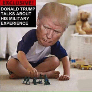 Donald Trump, Trump, and Military: EXCLUSIVE  DONALD TRUMP  TALKS ABOUT  HIS MILITARY  EXPERIENCE