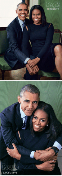 Funny, Michelle Obama, and People Magazine: EXCLUSIVE   EXCLUSIVE Barack and Michelle Obama for People Magazine.. I'm gonna miss them so much 😭