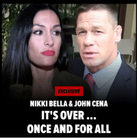 NikkiBella and JohnCena are officially DUNZO ... for real this time. Looks like they've grown apart ... figuratively and literally. 😢 tmz wwe totalbellas: EXCLUSIVE  NIKKI BELLA & JOHN CENA  IT'S OVER  ONCE AND FOR ALL NikkiBella and JohnCena are officially DUNZO ... for real this time. Looks like they've grown apart ... figuratively and literally. 😢 tmz wwe totalbellas