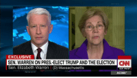 """""""There's no evidence he's a white supremacist.""""   Anderson Cooper pushes back on Elizabeth Warren's attack on Steve Bannon.: EXCLUSIVE  SEN. WARREN ON PRES.-ELECT TRUMP AND THE ELECTION CINNI  Sen. Elizabeth Warren (D) Massachusetts  8:07 PM ET  AC360° """"There's no evidence he's a white supremacist.""""   Anderson Cooper pushes back on Elizabeth Warren's attack on Steve Bannon."""