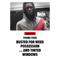 """ YoungThug's now facing a felony drug charge, and a misdemeanor for tinted windows ... TMZ has learned. The rapper was arrested Saturday in Georgia by Brookhaven PD, and booked on one count of marijuana possession. He was also slapped with a charge for having tinted front windows. Thug's had a year full of legal issues, but so far it's worked out for him - he skated on another felony drug charge in April thanks to a technicality, and was cleared for allegedly slapping a woman outside a nightclub. Third time's a charm?"" 👀😳 @thuggerthugger1 @tmz_tv WSHH: EXCLUSIVE  YOUNG THUG  BUSTED FOR WEED  POSSESSION  AND TINTED  WINDOWS "" YoungThug's now facing a felony drug charge, and a misdemeanor for tinted windows ... TMZ has learned. The rapper was arrested Saturday in Georgia by Brookhaven PD, and booked on one count of marijuana possession. He was also slapped with a charge for having tinted front windows. Thug's had a year full of legal issues, but so far it's worked out for him - he skated on another felony drug charge in April thanks to a technicality, and was cleared for allegedly slapping a woman outside a nightclub. Third time's a charm?"" 👀😳 @thuggerthugger1 @tmz_tv WSHH"