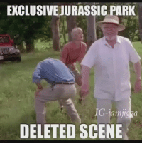 Funny, Jurassic Park, and Wow: EXCLUSIVEJURASSIC PARK  IG-iam jigga  DELETED SCENE WOW THE NEW JURASSIC PARK LOOKS AMAZING