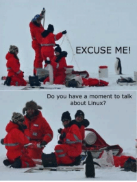 Funny, Meme, and Best: EXCUSE ME!  Do you have a moment to talk  about Linux? Do you have a moment to talk about Linux - The Best IT Meme!