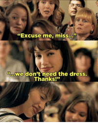 """Memes, The Dress, and Selena: """"Excuse me, miss.  Soerowe don't need the dress.  Thanks!"""" Selena 🥀 poderosa Who else remembers this part of the movie? Selena"""