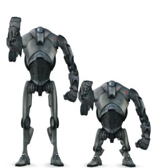Execute this investment in father and son Super Battle Droid: Execute this investment in father and son Super Battle Droid