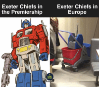 Memes, Chiefs, and Europe: Exeter Chiefs in  the Premiership  Exeter Chiefs in  Europe  RUGBY  MEMES  ns Can they turn things around in the Champions Cup? 🤷🏾‍♂️ rugby exeterchiefs castres