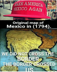 Exico Again Original Map Of Mexico In 1794 We Did Not Cross The