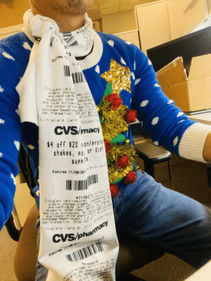 Ugly Holiday Sweater Day at work: Exires  to 1  EtraCare card r  orders. Postas  Pre Paid cards des lott  Products, other prescr  and Tocal exclusios, to es.  Pre couPOn priceack Ta C  Purchase based coured L imit  Per transaction 0:4 off $20 Pu  Pseudoep  ExtraCare Card  id in Minutei,  000897742  CVS/macy  $4 off $20 non/prote  shakes, po or diet  SUPPS  Expires 11/08/201  to $4 00 vale  471452s lattery a  prescriptians  ExtraCare card required  orders Postage starps  seudephed ire  Pre Paid cards 9ift car ta-es, alcoh  Products, ather fees, dep ck Ta cha  and local e clusions No  Limi  Pre Coupon price where ret $20 mrchase  Purchase-based coupo0, ie  Per transaction Offer not  n MiruteClinc  ExtraCare Card #  12 000898/93222  CVS/phamacy  Expires 11/08/  para çe s, prescripionS 9Ft rs  lottey moriey rdrs, Asey  m pre couPo  Tess9310  SCOunt e cludes sale & pronotuna tes  be sen Ugly Holiday Sweater Day at work