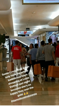 wholesome crazy rich asian: EXIT  LOVE  NEDIA  Some Crazy Ri  lady tookthe whole  badminton team  shopping at Louis  Vuitton last night  because she's so  happy they won the  gold  wholesome crazy rich asian