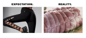 Leggings, Reality, and Expectation: EXPECTATION  REALITY. I always have high expectations for leggings.