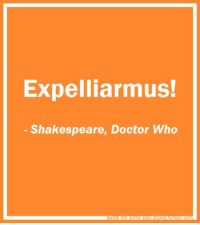 """Doctor, Love, and Shakespeare: Expelliarmus!  Shakespeare, Doctor Who sherlockian-spockian-who:  nodaybuttodaytodefygravity:  The best part is, there are going to be some people that think this is one of those """"Use the force, Harry"""" -Yoda things…when in reality, this is actually a quote.  AN ACTUAL QUOTE, PEOPLE. This is why I love Doctor Who."""