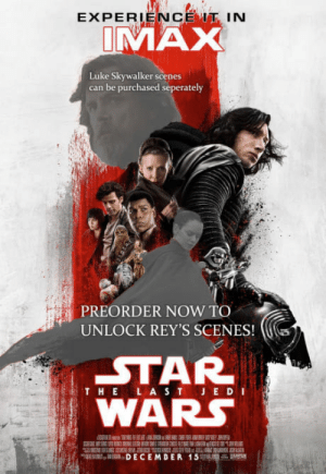 Luke Skywalker, Movies, and Star Wars: EXPERIENCE IN  VAX  Luke Skywalker scenes  can be purchased seperately  PREORDER NOW TO  UNLOCK REY'S SCENES!(  STAR  WARs  THEL A S T JED I  EDECEMDER 15% If EA got into movies