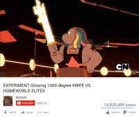 Elites: EXPERIMENT Glowing 1000 degree KNIFE VS  HOMEWORLD ELITES  Bismuth  Subscribe  5,698,142  16,828,499 views  Add toShareMore  388,545タ129,435
