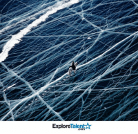 """Memes, Winter, and Cracked: Explore  """"Com During winter, the ice is up to 1.5 metres thick, allowing animals to cross safely. The white lines are cracks in the ice& as temperatures change they make loud shuddering noises, reinforcing the eerie atmosphere! :O"""