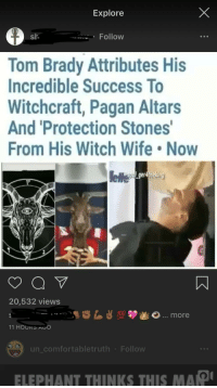 tom brady wife a witch