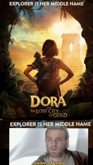 I don't think the system works...: EXPLORER IS HER MIDDLE NAME  DORA  AND  THE LOST CITY  OF GOLD  EXPLORER IS HER MIDDLE NAME  visible confusion I don't think the system works...