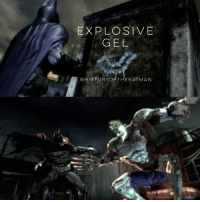 "Arsenal, Batman, and Climbing: EXPLOSIVE  GEL  @HISTORYORTHEBATMAN  RAT ""What's In That Utility Belt: A History of Batman Gadgets"" - Explosive Gel: In August of 2009, Rocksteady Studios with Warner Bros. Interactive Entertainment developed the video game 'Batman: Arkham Asylum for Playstation 3, Xbox 360 and Microsoft Windows. The game was written by 'Batman: The Animated Series' Paul Dini , who created an entirely original plot within the Batman mythos. Wanting to have a central focus setting in the game to limit the Dark Knight's access to help within Gotham, 'Arkham Asylum' was visually inspired by stories such as Grant Morrison and Dave McKean's 1989 one shot graphic novel ""Arkham Asylum: A Serious House on Serious Earth"". The voice cast included the original BTAS talents such as Kevin Conroy as Batman, Mark Hamill @HamillHimself as Joker and Arleen Sorkin as Harley Quinn. Batman has to fight his way through a Joker controlled Arkham Asylum to stop the detonation of hidden bombs throughout the city of Gotham. In gameplay, Batman's detective skills are enhanced with 'Detective Vision', able to examine objects and individuals providing contextual evidence, and his combat skills are brilliantly showcased with an array of running, kicking, jumping, climbing, and gliding, including dozens of lethal combos, providing a new look into Gotham's infamous insane asylum. Seen in this game and the following sequel and prequel chapters of Arkham City (2011), Arkham Origins (2013) and Arkham Knight (2015), many new gadgets were created to aid the Batman in gameplay, such as Explosive Gel. The Dark Knight would spray an amount of gelignite (in the shape of a crude Bat symbol) on a supposedly weak surface, then would detonate the destructive gel to explode. The Explosive Gel can be used to tear down a surface or used as a weapon against enemies; if henchmen are in the radius of a blast caused by the gadget, it would knock them out temporarily. The Explosive Gel was also an important part in taking down the Titan-enhanced Joker towards the end of ""Batman: Arkham Asylum"" chapter (clip presented). Even in this highly popular video game franchise, the Caped Crusader's arsenal continues to evolve with the 78 year old character. ✌🏼💙🦇🎮"
