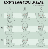 Meme, Target, and Tumblr: EXPRESSION MEME  BY SQUIDNEEKO squidneeko:  Expression Meme (free to use) !!!