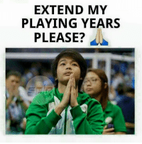 Volleyball, Filipino (Language), and La Salle: EXTEND MY  PLAYING YEARS  PLEASE? Kung pwede nga lang eh. 😌 La Salle fans will miss you Ara Galang. 😉