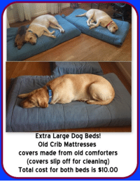 Extra Large Dog Beds Old Crib Mattresses Covers Made From Old