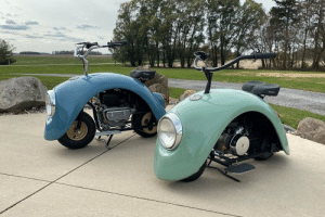 extremelycoolcarmods:  shitty-car-mods-daily:  Does this count? Volkswagen Beetle side fenders converted into motorcycles  Imagine thinking these r shitty : extremelycoolcarmods:  shitty-car-mods-daily:  Does this count? Volkswagen Beetle side fenders converted into motorcycles  Imagine thinking these r shitty