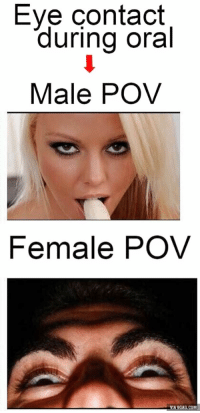 Eye contact and oral sex