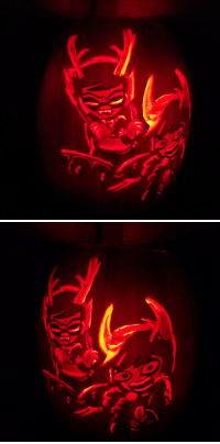 Love, Target, and Tumblr: eye-of-orion: I carved my favorite piece of official Grubbles art!!  I love them so much :U