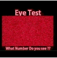 Eye Test  REE  What Number Do you see