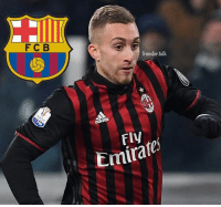 Everton winger Gerard Deulofeu, 23, who is on loan at ACMilan, is set to return to Barcelona in the summer as the Catalans prepare to enact their buy-back option on the Spaniard. (Marca): F C B  Transfer talk  Emirate Everton winger Gerard Deulofeu, 23, who is on loan at ACMilan, is set to return to Barcelona in the summer as the Catalans prepare to enact their buy-back option on the Spaniard. (Marca)