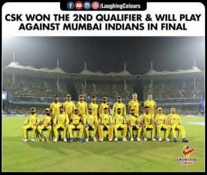 #CSKvDC #2ndqualifier #ipl #MI: f/LaughingColours  CSK WON THE 2ND QUALIFIER& WILL PLAY  AGAINST MUMBAI INDIANS IN FINAL  LAUGHING #CSKvDC #2ndqualifier #ipl #MI