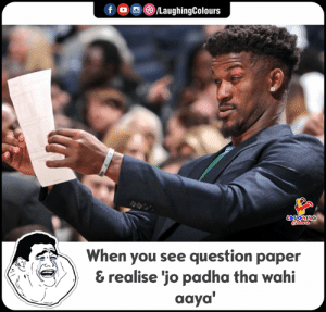 Indianpeoplefacebook, Daya, and Paper: f/LaughingColours  LAUGHING  When you see question paper  & realise 'jo padha tha wahi  daya