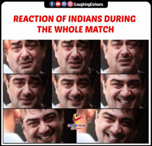#INDvAFG #CWC19: f LaughingColours  REACTION OF INDIANS DURING  THE WHOLE MATCH  LAYGHING  Clorrs #INDvAFG #CWC19