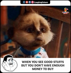 Money, Good, and Indianpeoplefacebook: f LaughingColours  WHEN YOU SEE GOOD STUFFS  BUT YOU DON'T HAVE ENOUGH  MONEY TO BUY