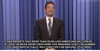 """Beyonce, Target, and Home:  #F ONTONIGHT  AAAREPORTS THAT MORE THAN 38 MILLION AMERICANS WILL TRAVEL  AT LEAST 50 MILES FROM THEIR HOME THIS WEEKEND. ALSO, THE NUMBER  OF DADSWHOACTUALLY WILL TURN THIS CAR AROUND: STILLZERO <h2><a href=""""http://www.nbc.com/the-tonight-show/video/memorial-day-weekend-beyonce-influences-scripps-spelling-bee-monologue/3043252"""" target=""""_blank"""">&ldquo;It&rsquo;s a bluff, kids. They won&rsquo;t do it.&rdquo;</a></h2>"""