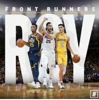Nba, Run, and Link: F R 0 NT RUN N E R S  Pa  AZZ  45 Who ya got so far? 🤔 [Link in bio for full list of ROY rankings] Sponsored via @theScore