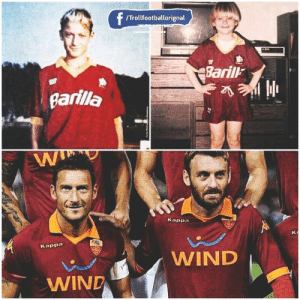 End of An ERA 😔. Totti and De Rossi 😢 https://t.co/GIP9lhrmrD: f  /Trollfootballorignal  Baril  Barilla  Kappa  Kappa  WIND  WIND End of An ERA 😔. Totti and De Rossi 😢 https://t.co/GIP9lhrmrD