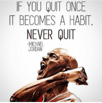 Strive to make good habits. addicted2success: F YOU QUIT ONCE  IT BECOMES A HABIT  NEVER QUIT  MICHAEL  JORDAN Strive to make good habits. addicted2success