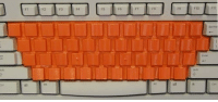 School, Tumblr, and Blog: F4  fo  FtO kindergarten2002:remember in school when we had to put these orange covers over the keyboards when practicing our typing skills so we wouldn't be able to peek at where the letters are?
