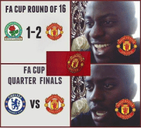 Man United fans after the FA Cup draw.: FA CUP ROUND OF 16  AN RO  CHE  1-2  NITE  ETILABORE  FA CUP  QUARTER FINALS  HELSE  UNITE  IBALL  CHI  ITED  ACHES  NITED  UNITED Man United fans after the FA Cup draw.