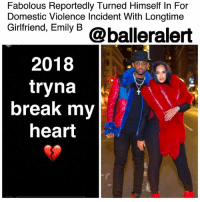 Fabolous Reportedly Turned Himself in For Domestic Violence Incident With Longtime Girlfriend, Emily B – blogged by @MsJennyb ⠀⠀⠀⠀⠀⠀⠀⠀⠀ ⠀⠀⠀⠀⠀⠀⠀⠀⠀ Fabolous turned himself into officials on Wednesday night over an alleged domestic violence incident involving his baby mother, Emily B. ⠀⠀⠀⠀⠀⠀⠀⠀⠀ ⠀⠀⠀⠀⠀⠀⠀⠀⠀ The incident occurred in Englewood, New Jersey, where the two live, however, the details are scarce. According to TMZ, Emily phoned officials late Wednesday night to report that the rapper, whose real name is John David Jackson, hit her. ⠀⠀⠀⠀⠀⠀⠀⠀⠀ ⠀⠀⠀⠀⠀⠀⠀⠀⠀ Shortly after, the rapper showed up to the Englewood Police Department with his lawyer to turn himself in. As a result, he was cited and given a ticket for a court appearance, Page Six reports.: Fabolous Reportedly Turned Himself In For  Domestic Violence Incident With Longtime  Gintriend, Emiy 6 @balleralert  2018  tryna  break my  heart Fabolous Reportedly Turned Himself in For Domestic Violence Incident With Longtime Girlfriend, Emily B – blogged by @MsJennyb ⠀⠀⠀⠀⠀⠀⠀⠀⠀ ⠀⠀⠀⠀⠀⠀⠀⠀⠀ Fabolous turned himself into officials on Wednesday night over an alleged domestic violence incident involving his baby mother, Emily B. ⠀⠀⠀⠀⠀⠀⠀⠀⠀ ⠀⠀⠀⠀⠀⠀⠀⠀⠀ The incident occurred in Englewood, New Jersey, where the two live, however, the details are scarce. According to TMZ, Emily phoned officials late Wednesday night to report that the rapper, whose real name is John David Jackson, hit her. ⠀⠀⠀⠀⠀⠀⠀⠀⠀ ⠀⠀⠀⠀⠀⠀⠀⠀⠀ Shortly after, the rapper showed up to the Englewood Police Department with his lawyer to turn himself in. As a result, he was cited and given a ticket for a court appearance, Page Six reports.