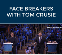 """Dancing, Target, and youtube.com: FACE BREAKERS  WITH TOM CRUSIE   <p>Jimmy and Tom Cruise faced off in <a href=""""https://www.youtube.com/watch?v=wi5mUWH4rLI&amp;list=UU8-Th83bH_thdKZDJCrn88g"""" target=""""_blank"""">an all new game called Face Breakers</a>! There was flying footballs, epic dancing, and plenty of broken glass!</p>"""