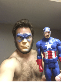 Face swap with Captain America came out pretty good: Face swap with Captain America came out pretty good