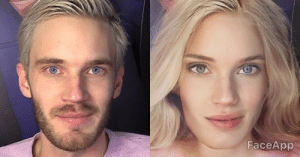 Sry Pewds.btw ive not photoshopped this its a app: FaceApp Sry Pewds.btw ive not photoshopped this its a app